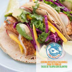Tacos de tilapia con cilantro, aquí la receta  https://www.facebook.com/hoytocan/photos/a.1036004696417036.1073741828.1028646237152882/1155601234457381/?type=1&theater
