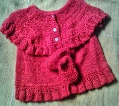 **  Crochetando com Cielle  2 **: Meu Ruffle vest vermelho