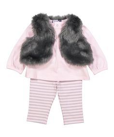 Vitamins Baby Gray Vest Set - Infant | zulily