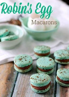 Robin's Egg Macarons. Gorgeous and delicious! You too can make no fail macarons with this recipe!