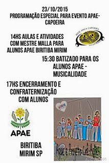 Agenda Cultural do ALTO TIETÊ: Dia 23/10 - Programação Especial para evento APAE ...