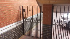 Side gate and security panel to match existing entrance gate in Bourne.