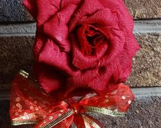 Beautiful handmade paper roses - individual and unique by PaperalchemyStudio Paper Roses, Burlap Wreath, Etsy Seller, Create, Unique, Handmade, Beautiful, Hand Made, Craft