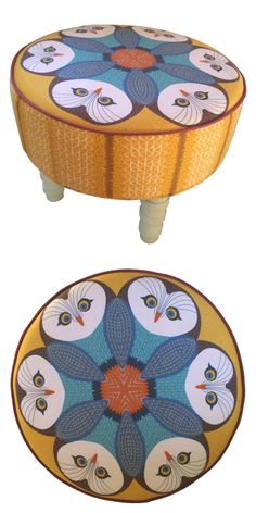 Owl Footstool £300.00 : Orwell and Goode #owl #footstool #childrenschair #kidsdecor #kidschair #owldecor #quirkyfootstool #wildlifefurniture #quirky #furniture