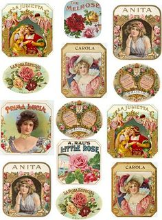 ♥ the digital bakery ♥: Vintage labels for bottles, boxes, cards etc.