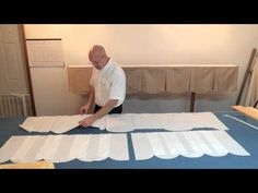 (Step 2 of 10) In this video you will learn how to cut a scalloped valance using our pattern. https://www.factorydirectdesignersworkroom.com