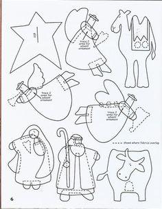 !!!!♥ Feltro-Aholic Moldes e tutoriais em feltro: Molde de Presépio para o Natal
