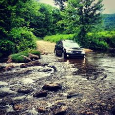 My outback crossing a stream in the white mountains Subaru Outback, White Mountains, Adventure Travel, Wheels, Cars, Vehicles, Fun, Autos, Car