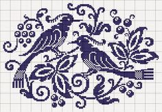 Punto croce - Schemi Gratis e Tutorial: raccolta di schemi a punto croce - cornicette e disegni in blu