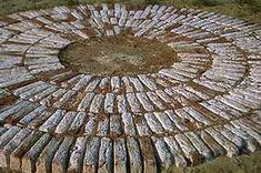 Mysterious white rings made of brick dot the landscape where Harappan people lived, but archaeologists do not know the function. One guess is platforms for spreading and drying of grains. Source: North Park University, Chicago, Illinois.