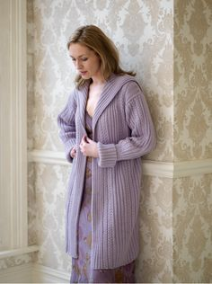 The Vintage Pattern Files: Free 1930's Knitting Pattern - Rib and Cable Coat