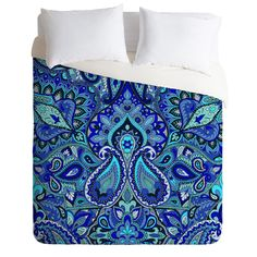 Aimee St Hill Paisley Blue Duvet Cover | DENY Designs Home Accessories
