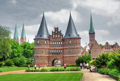 Holsten Gate's is a signature piece of Lubeck's role in the medieval Hanseatic league. Holsten Tor Lübeck by Habub3, via Flickr