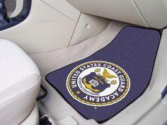 USCG 2-pc Carpet Car Mats - U.S. Coast Guard Academy