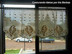 Costurando Idéias por Iris Barbas: Crochê e Muita Sorte. Medidas: Largura 1,20 m / Altura 0,58 m. R$: 300,00. Para comprar esta cortina, é só enviar um e-mail para irisbarbas@ig.com.br