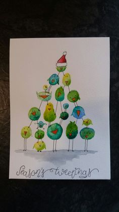 Painted Christmas Cards, Watercolor Christmas Cards, Christmas Card Crafts, Christmas Drawing, Christmas Paintings, Watercolor Cards, Xmas Cards, Christmas Art, Holiday Crafts