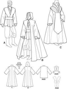 STAR WARS Jedi Sewing Pattern Obi Wan Anakin by OhSewCharming