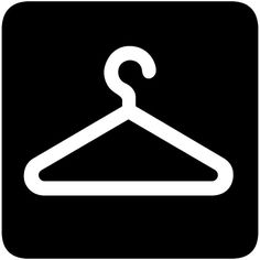 Black and white line art of a dress hanger at DuckDuckGo ❤ liked on Polyvore featuring home, home improvement and storage & organization