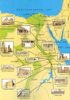 ancient-egypts-secrets: Map of Ancient Egypt