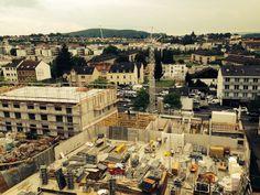 August 2014 - Ganz oben - hier hat man den besten Überblick über die Baustelle