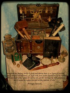 Vampire hunting kit by Jareth-Barnowl on deviantART Werewolf Hunter, Vampire Hunter, Monster Vampire, Steampunk Furniture, Viking Culture, Creepy Pictures, Monster Hunter, Macabre, Dark Art