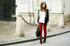 Outfit inspiration for my red skinnies.