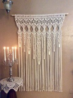 Extra Large Macrame Wall Hanging Tapestry Wedding Backdrop Macrame Curtain Woven Wall Hanging Boho Decor Hippie Decor Bohemian Decor by MacrameElegance on Etsy https://www.etsy.com/listing/474690120/extra-large-macrame-wall-hanging