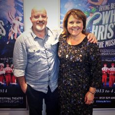 With Coronation Street's Cilla Battersby-Brown, actress Wendi Peters.