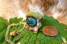 The Hobbit Hole Necklace With Bilbo Inside