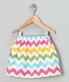 Take a look at this Rainbow Chevron Skirt - Toddler & Girls by Sweet Petunia on #zulily today!