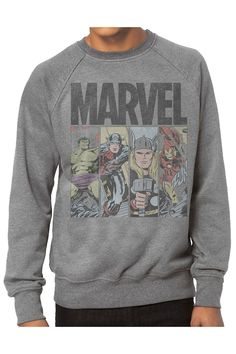 Jack Of All Trades Avengers Fleece Shirt In Grey Heather. I WANT THIS!