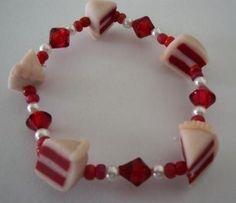Red Velvet Cake Bracelet by ArtbyAshLigon on Etsy, $7.99