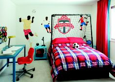 Great bedroom for the soccer fan. Cardinal Point, Stouffville ON Geranium Homes