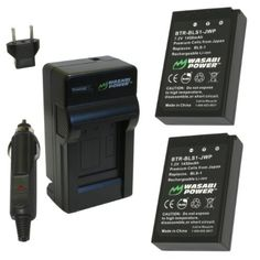Wasabi Power Battery and Charger Kit for Olympus BLS-1, PS-BLS1, E-420, E-450, E-600, E-620, PEN E-P1, E-P2, E-P3, E-PL1, E-PL3, E-PM1 by Wasabi Power. $29.99. The Wasabi Power BLS1 battery and charger kit includes 2 batteries and one charger with a European plug and car adapter. All items meet or exceed OEM standards and come with a 3-year manufacturer warranty.