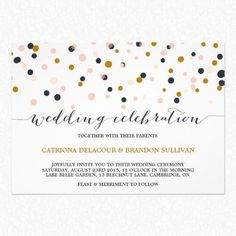 Unbelievably Awesome Polka Dot Wedding Invitations | colleen michele blog