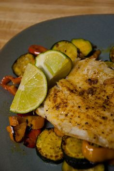 southwest tilapia - Mix 1 tsp garlic powder + 1 tsp chili powder + 1/4 tsp cayenne. Season fish with salt/pepper & spice mixture. Coat a baking sheet with oil & arrange tilapia in a single layer. Drizzle tilapia oil and bake until golden brown and flesh begins to flake, 10 minutes @ 450F.