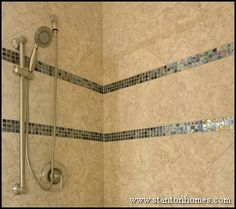 Bathroom Tubs on New Home Tips Trends And Ideas Raleigh Custom Home Builders Shower Accent Tile, Tile Accent Wall, Home Building Tips, Building A House, Custom Home Builders, Custom Homes, New Bathroom Ideas, Bath Ideas, Handicap Accessible Home