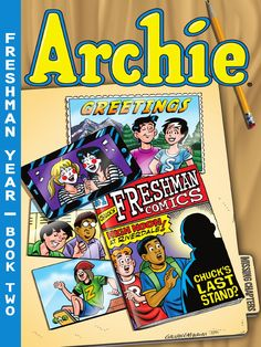 """Before they ruled Riverdale High, they were freshmen too! Go back to school with Archie, Reggie, Betty, Veronica, Chuck and Jughead and see how it all began! Find out what happens when Jughead finds true love! Watch as Betty & Veronica become accidental internet celebrities. Witness Reggie leaving the Gang for a new set of """"Pals 'n' Gals."""" See what develops as Chuck takes on the world of comic books for the very first time, and find out what exactly happened to Pencilneck G. Get the full…"""