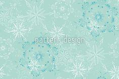 Winter Vector Ornament by Ursina Künti at patterndesigns.com Vector Pattern, Pattern Design, Surface Design, Snowflakes, Delicate, Ornaments, Patterns, Winter, Block Prints