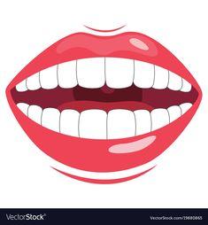 Teeth vector image on VectorStock Body Parts For Kids, Body Parts Preschool, Retro Logos, Vintage Typography, Sewing Basics, Educational Activities, Drawing For Kids, Kids Education, Preschool Activities