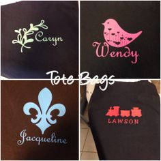 Cute personalized tote bags