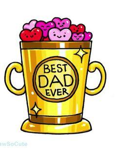 Spectacular Greatest Dad Ever Throphy – Best Anımals Food Kawaii Girl Drawings, Cute Food Drawings, Cute Animal Drawings Kawaii, Disney Drawings, Cartoon Drawings, Cute Drawlings, Cute Art, Kawaii Doodles, Kawaii Art