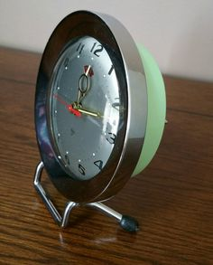 Vintage 70s Alarm Clock with wind up mechanism, Vintage Shanghai Zuan Shi Alarm Clock, Vintage Alarm Clock by EmptyNestVintage on Etsy