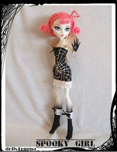 Handmade Goth Dress & Socks for MONSTER HIGH Dolls by DOLLS4EMMA, $10.00