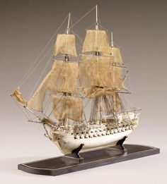 Miniature Prisoner of War Ship Model | AGO Art Gallery of Ontario