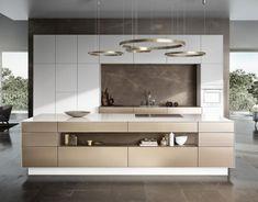 """Moderne Arbeitsplatten - """"Küchenarbeitsplatten aus Keramik können sehr dünn gefertig werden, Siematic beweist wie dünn: mit lediglich einer Stärke von 6,5 mm ist die """"Ceramic""""-Arbeitsplatte hauchdünn. Wo es notwenig ist, wie um Kochmulden und Spülbecken, wird die Keramikplatte auf 30 mm Gesamtstärke erhöht. Besonders edel: Die Seitenteile am Möbel sind ebenfalls Keramikplatten und betonen die feine Linie.Herstellung auf Maß und Preis auf Anfrage. www.siematic.deTipp: Schönes für Tisch und…"""
