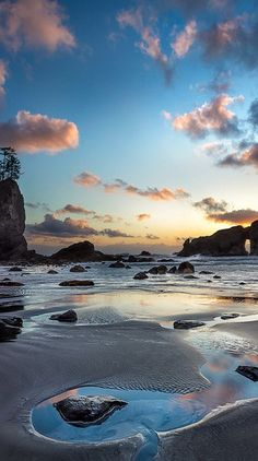 Second Beach twilight at Olympic National Park in northwestern Washington • photo: Howard Snyder on 500px