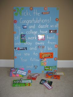 High School graduation gift or great visual for graduation party.