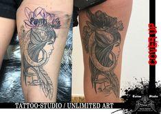 CoverUp / Widder - Frau Tattoo // Aries Girl Tattoo