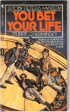 """The """"Three Stooges"""" on a roulette wheel, on novel cover. """"You Bet Your Life,"""" by Stuart Kaminsky. A wonderful cover!"""